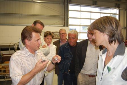 Besuch einer brandenburgischen Delegation, Vorstellung der Analytik Jena AG NL Eisfeld durch den Geschäftsführer, Reinhard Jacob