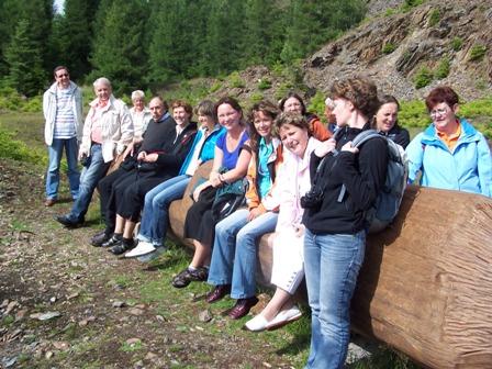 Besuch einer brandenburgischen Delegation, Die Brandenburger genießen den Thüringer Wald