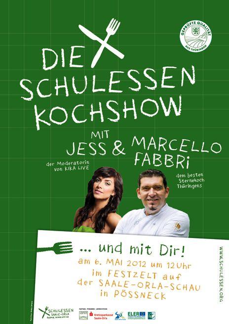 Plakat Kochshow (Quelle: LEADER-Aktionsgruppe Saale-Orla e.V.)