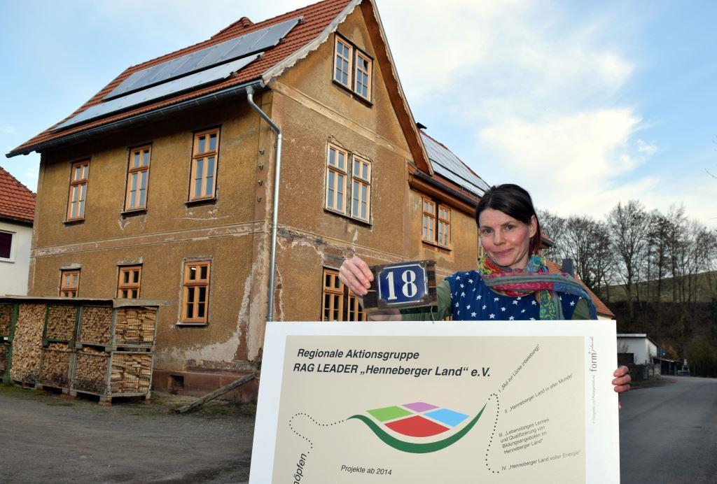 Katja Schreiber ist mit ihrer Laserwerkstatt in das Gebäude eingezogen (Foto: RAG Henneberger Land e.V.)