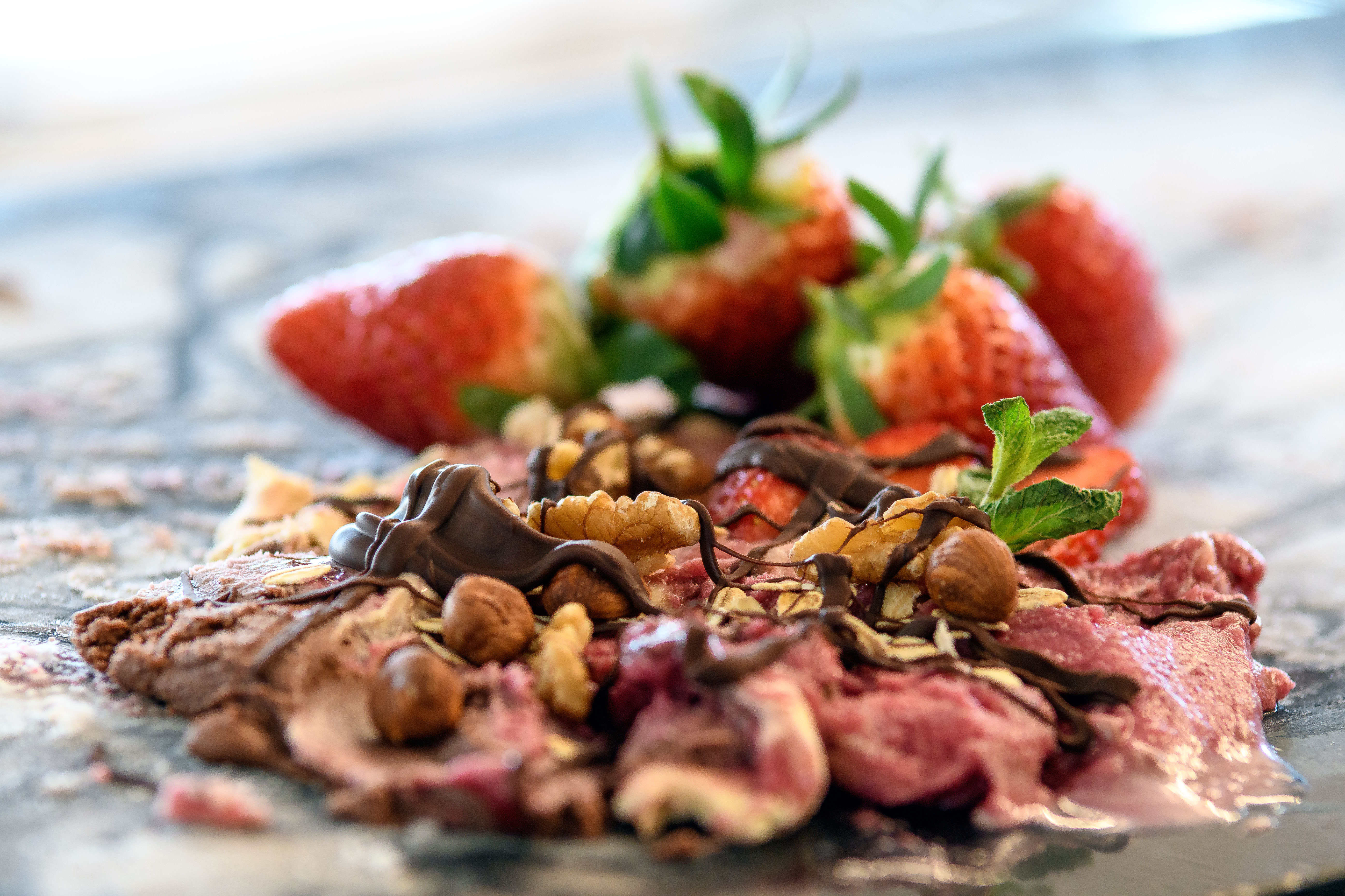 Süßspeise aus dem Café, Quelle: Bauernhof-Eis Pfaff GbR
