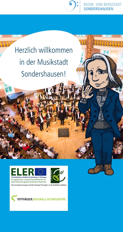 """Startbildschirm App """"Musikwanderwege"""" (Quelle: Stadtmarketing Sondershausen GmbH)"""