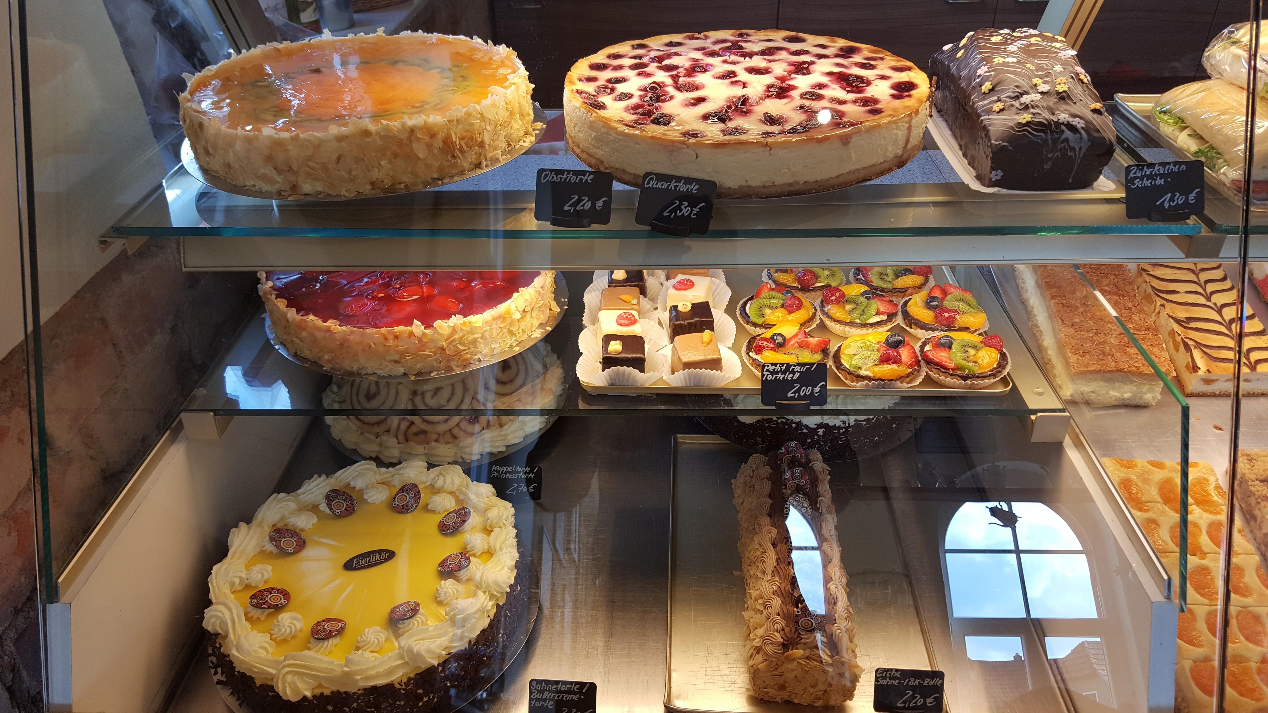 Kuchenauswahl des Cafés, Quelle: Michael Möbius