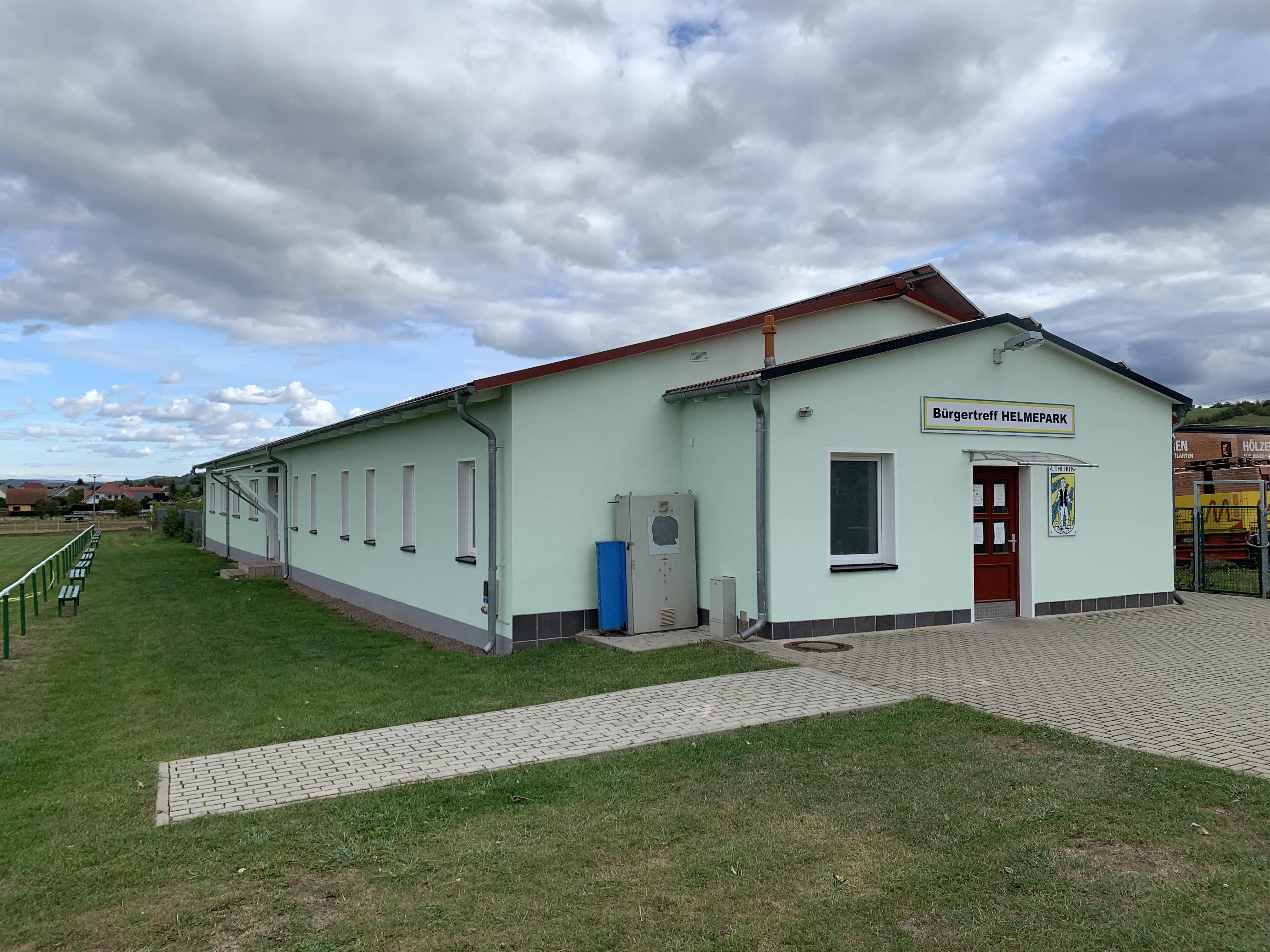 Außenansicht der renovierten Fassade (Quelle: SV Grün-Weiß Uthleben e.V.)