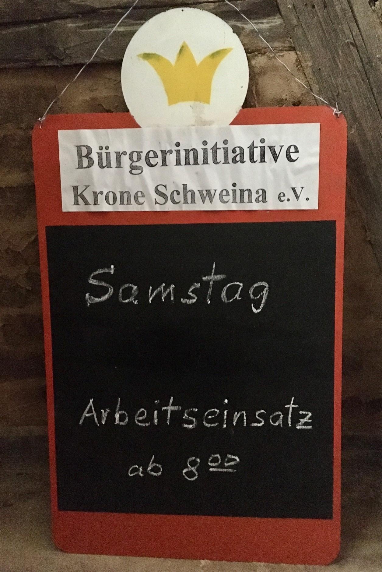 """Einladung zum Mitmachen bei der Bürgerinitiative """"Krone wachgeküsst"""", Foto: TLLLR"""