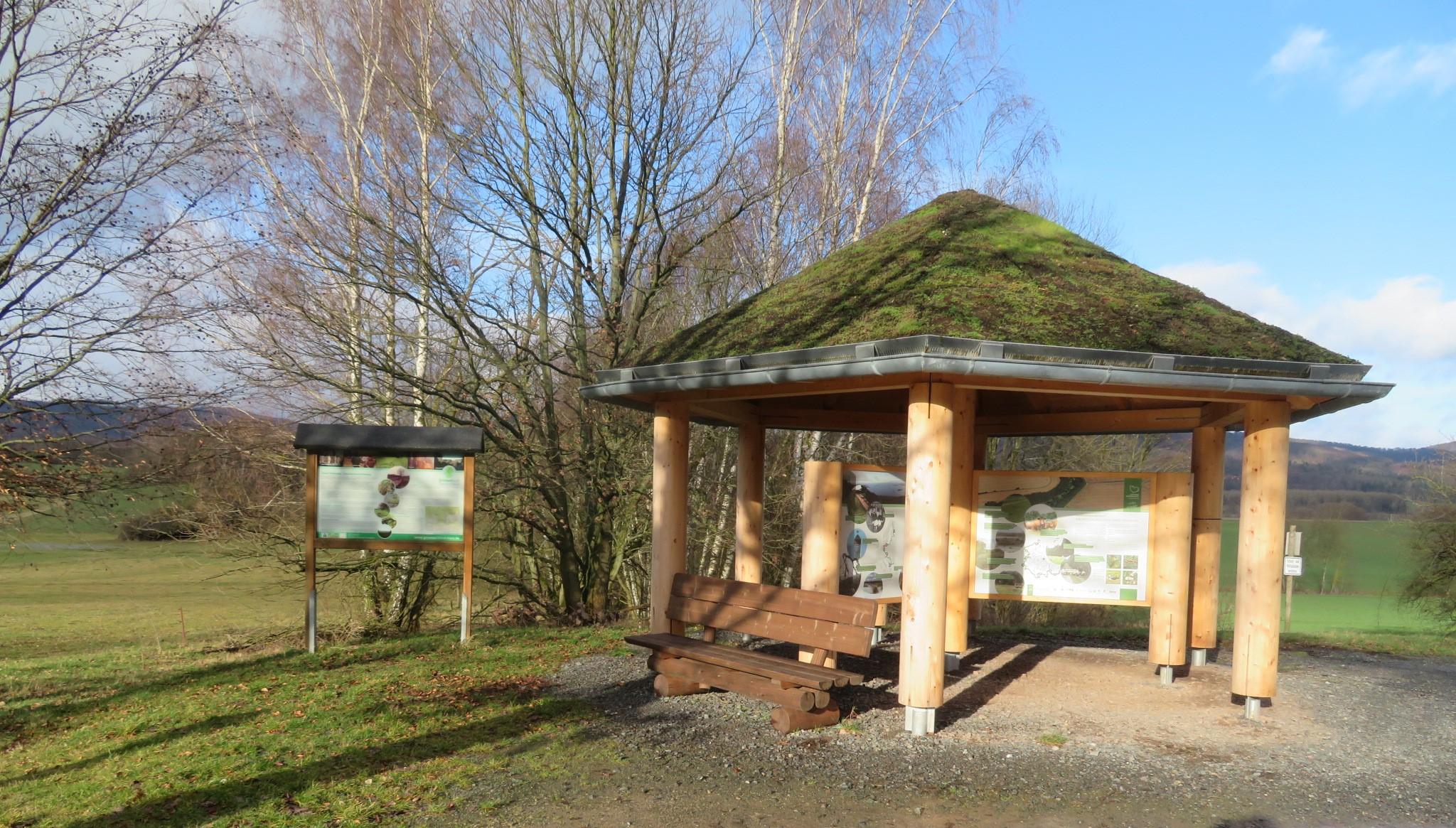 Ellrich Infopavillon, Quelle: Ingrid Werres, Stiftung Naturschutz Thüringen