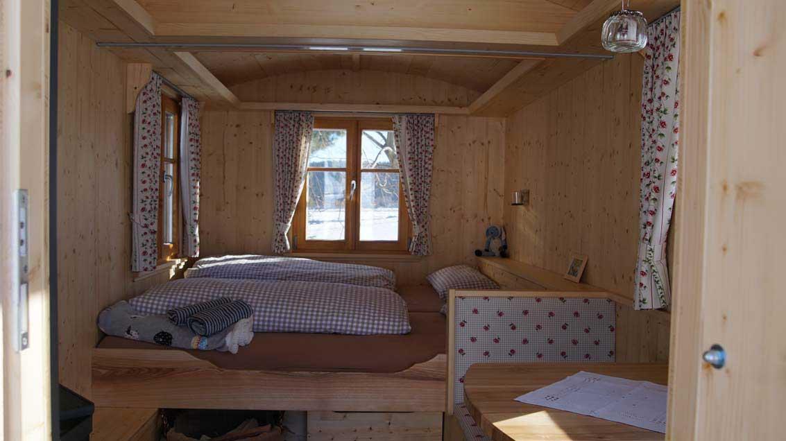 Ein Schäferwagen von innen, Quelle: Falk Lautenschläger