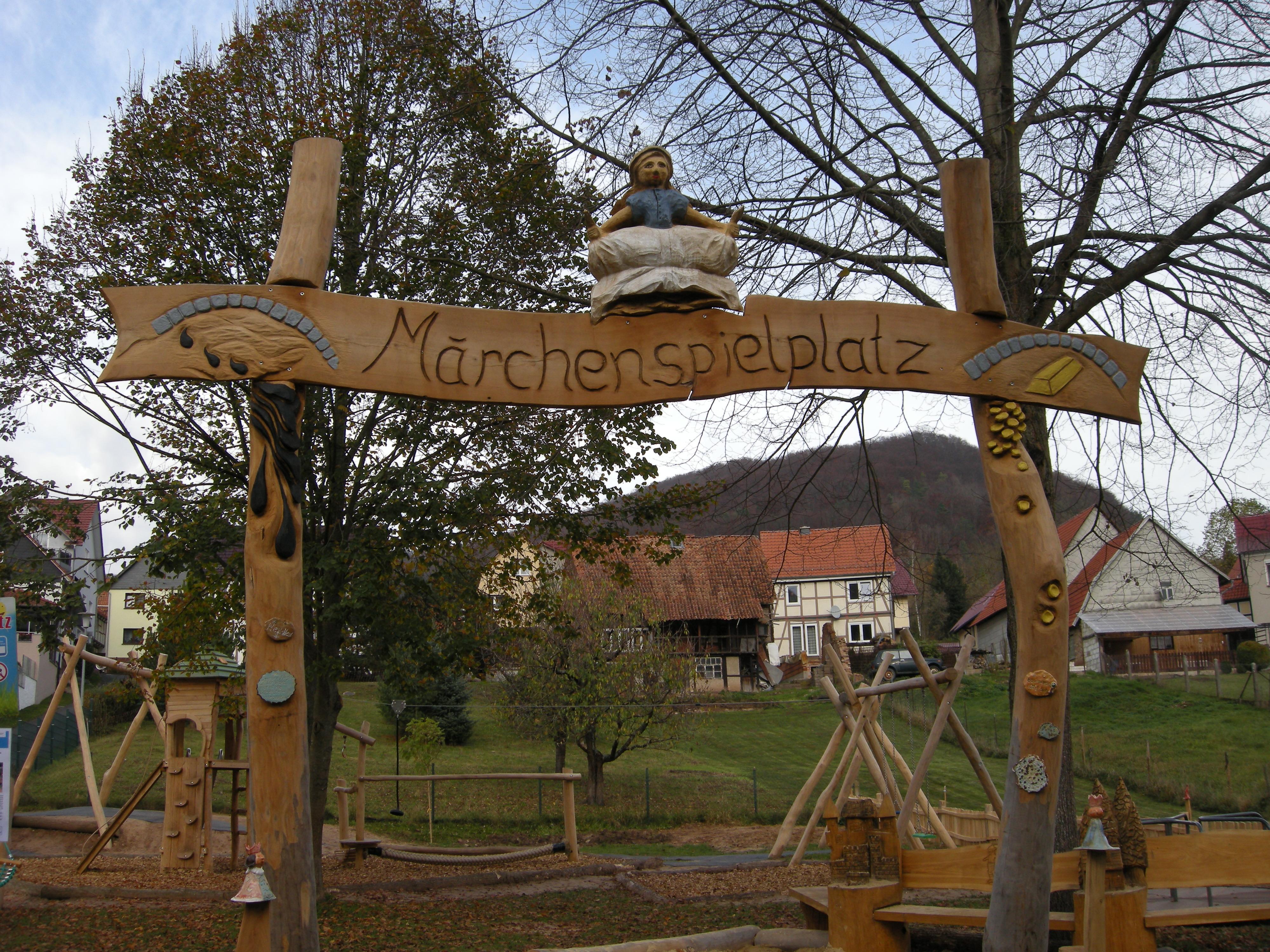 Mackenroder Märchenspielplatz, Eingang, Quelle: RAG Eichsfeld