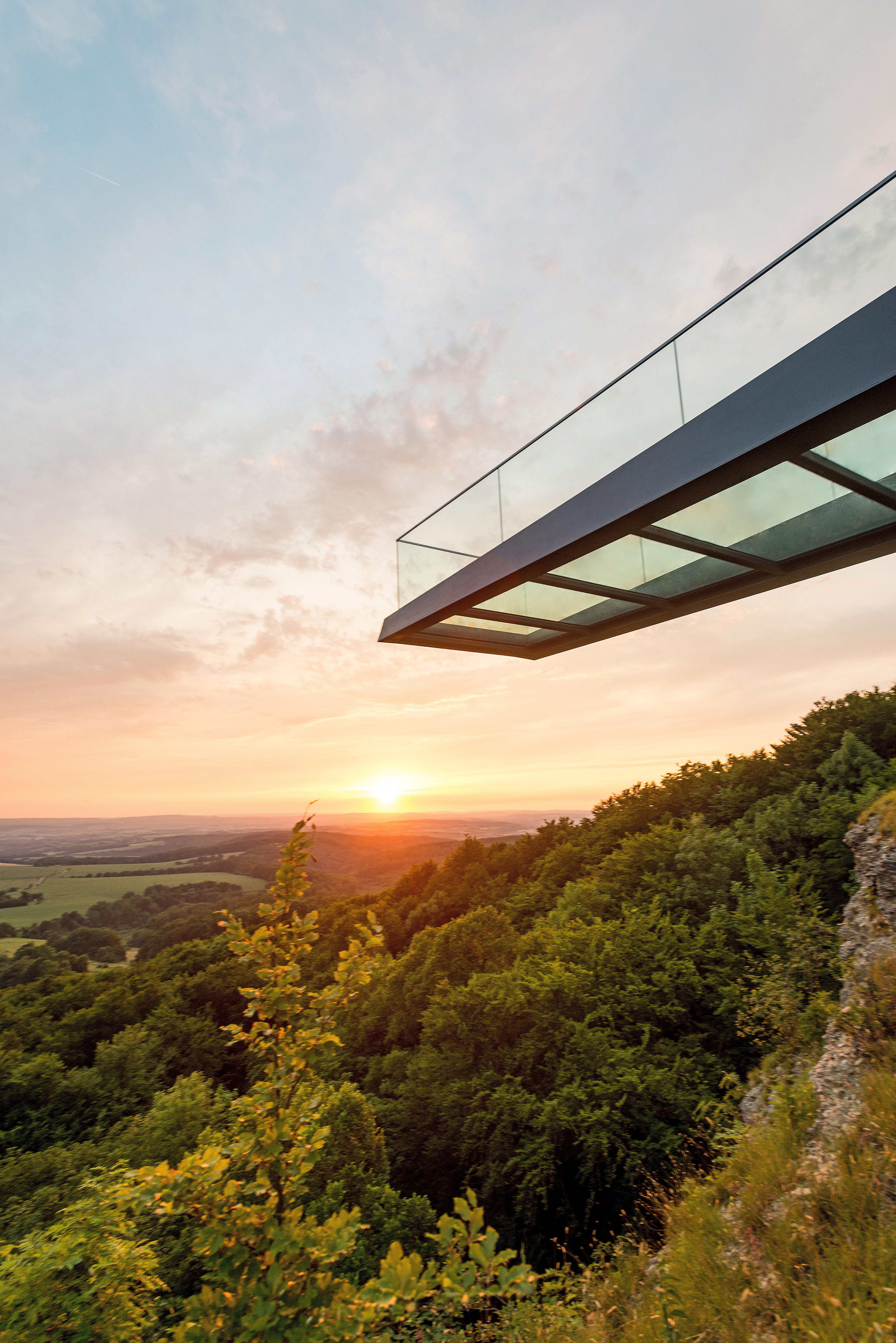Sonnenstein Skywalk, Sicht von unten, Quelle: Eichsfeldwerke GmbH