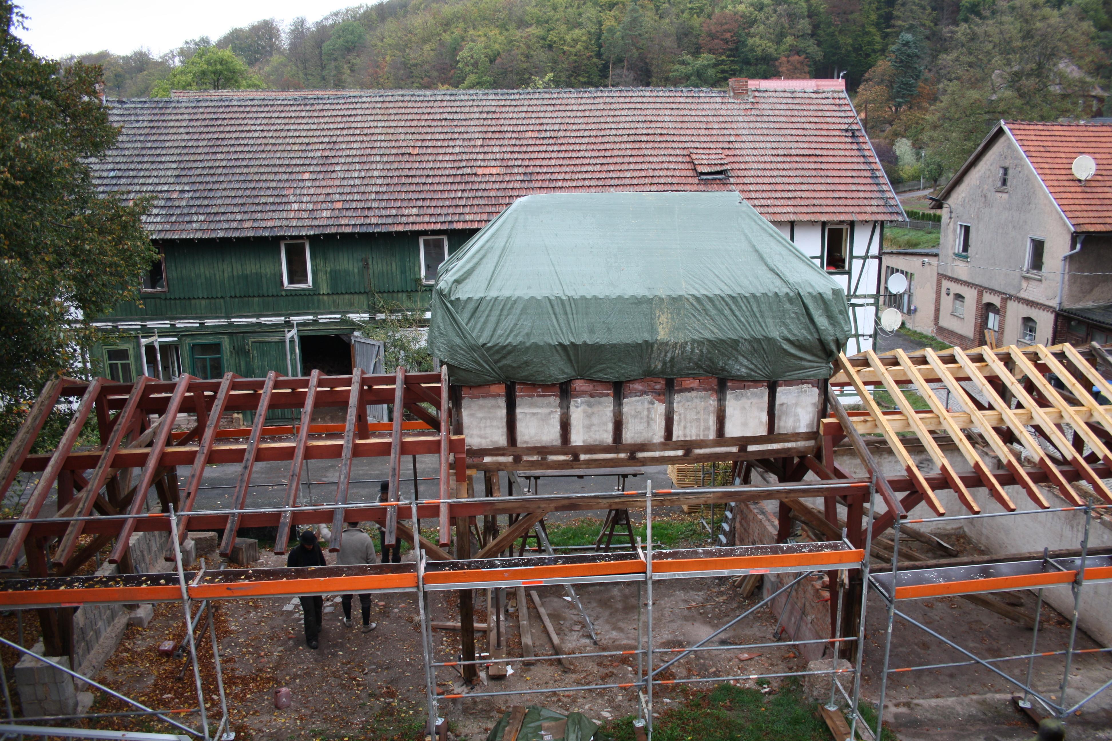 Backhaus Clausberg - Sanierung Remise, Quelle: Juliane Schwartz, Hofgemeinschaft Gutshof Clausberg