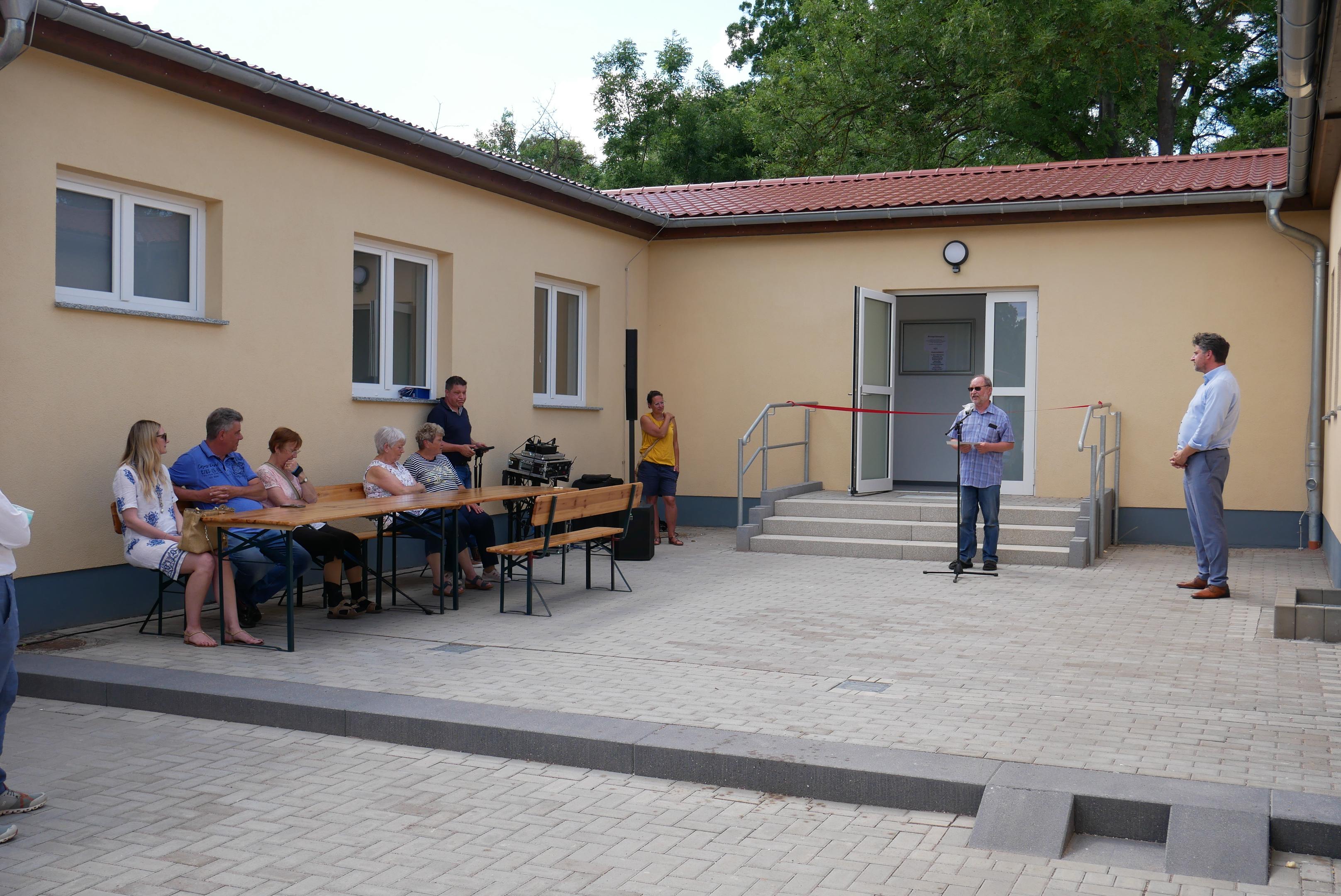 Eröffnung des Sportlerheims in Marlishausen, Quelle: Thüringer Landgesellschaft mbH