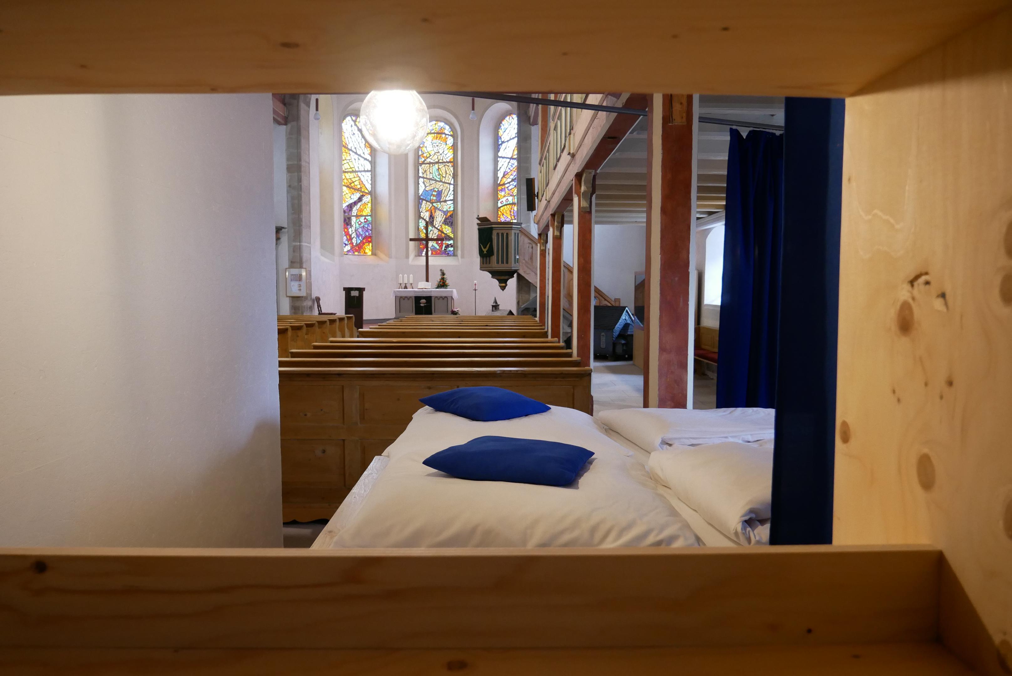 Blick in die Her(R)bergskirche in Neustadt am Rennsteig, Quelle: Thüringer Landgesellschaft mbH